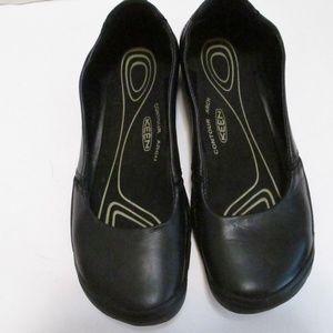 Keen Black Leather Ballerina Flat Size 8.5
